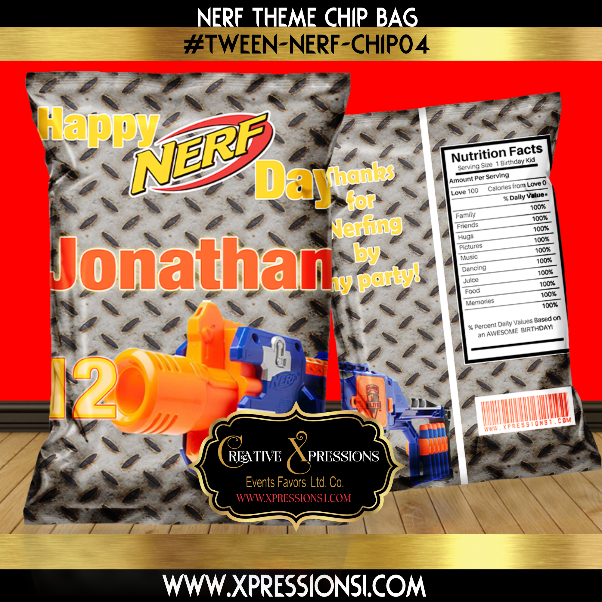 Industrial Nerf Chip Bag