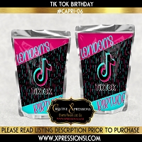 Tik Tok Capri Sun Party Label
