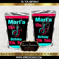 Tik Tok Capri Sun Party Favor