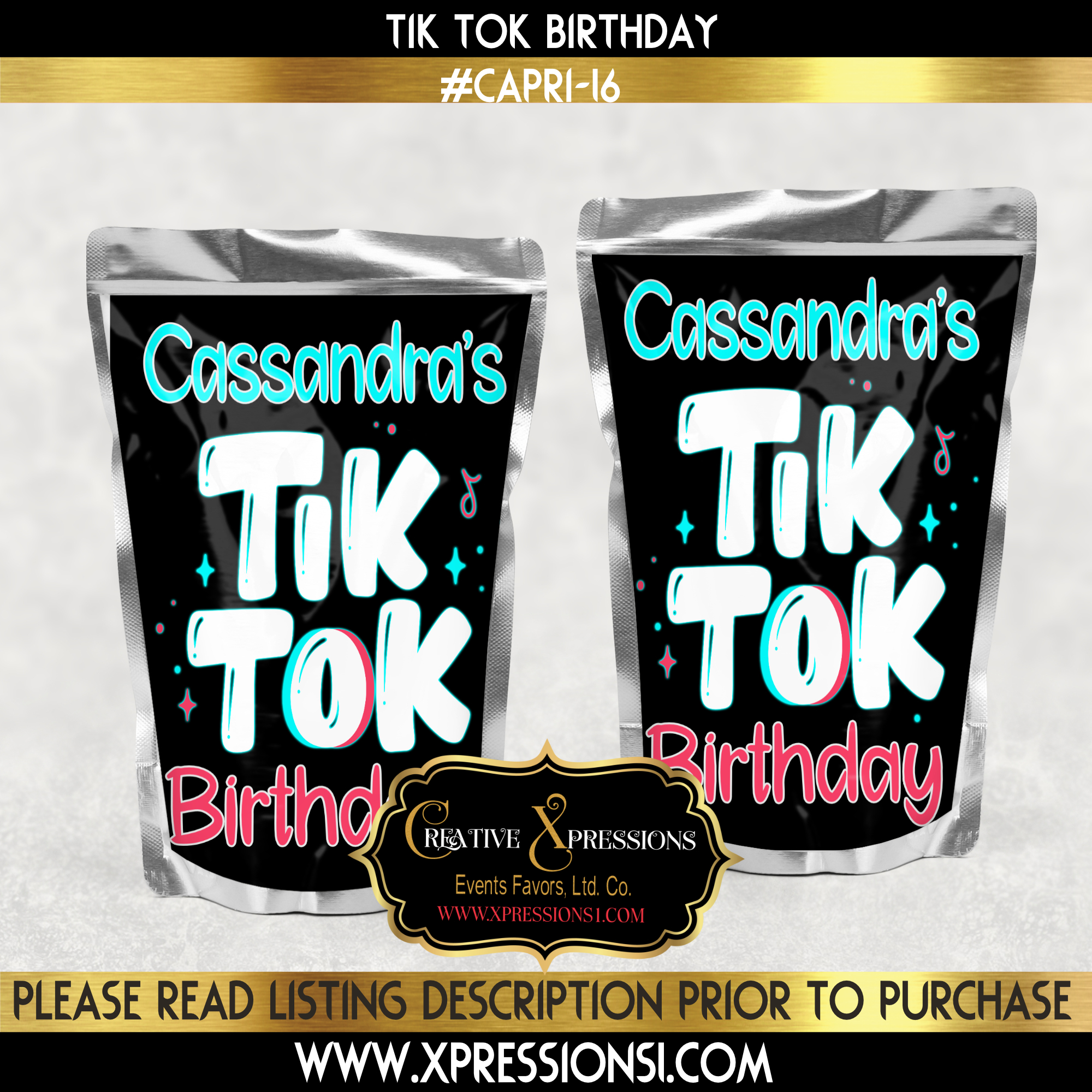 Tik Tok Birthday Fun Capri Sun