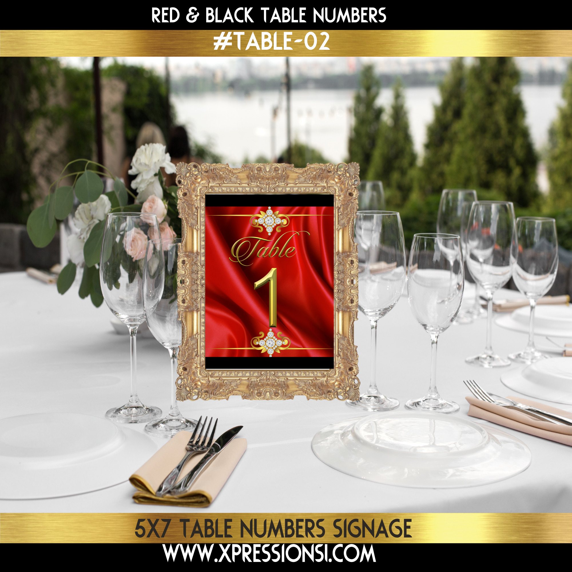 Pure Elegance Table Numbers
