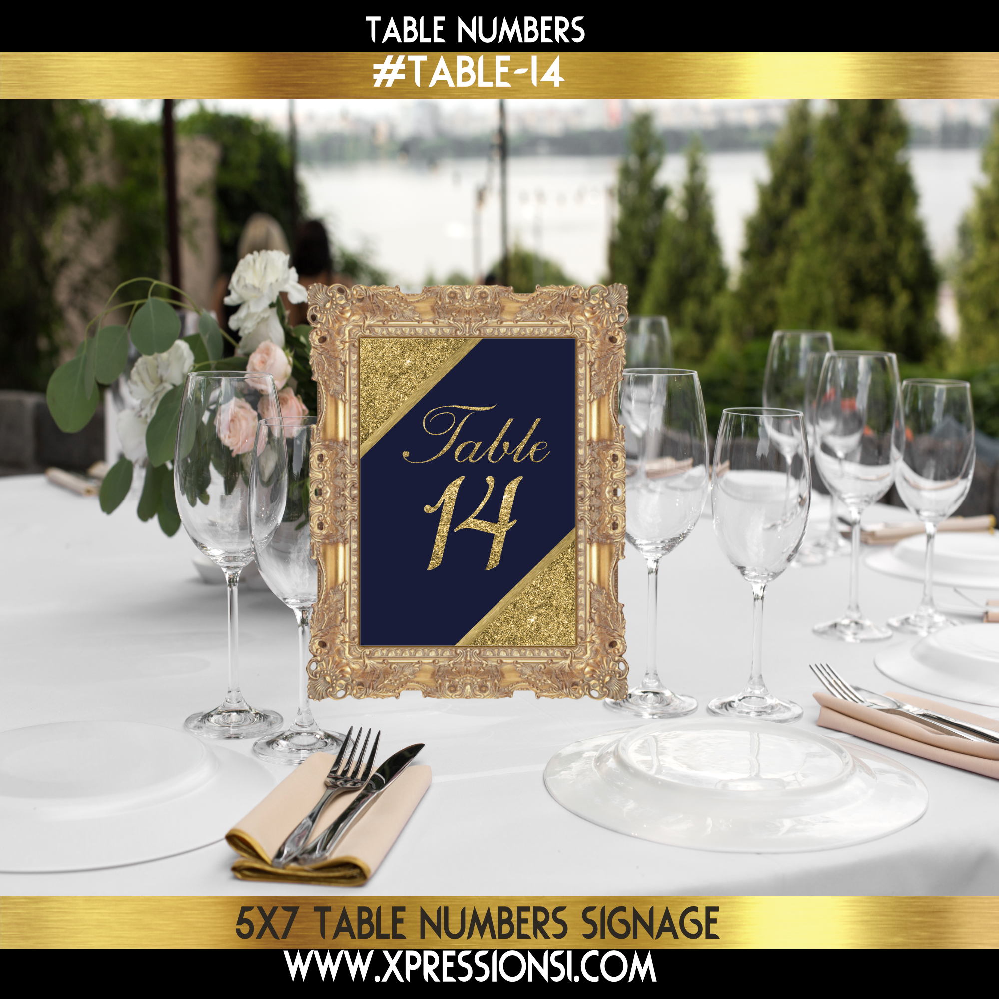 Blue Ecstasy Table Numbers