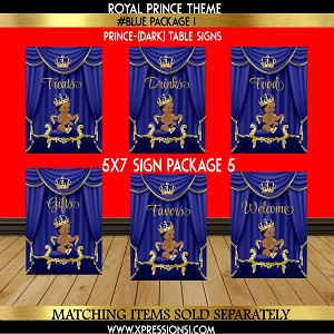 Royal Prince Table Signage