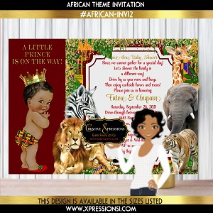 African Theme Prince Invitation
