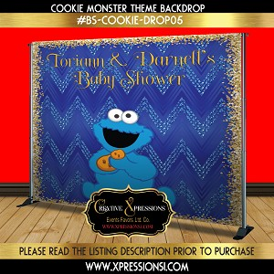 Cookie Monster Backdrop