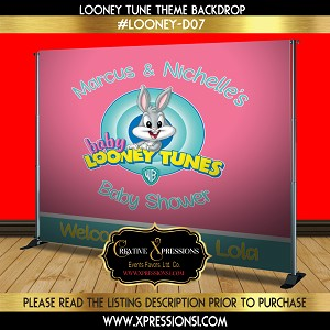 Looney Tunes Baby Shower Backdrop