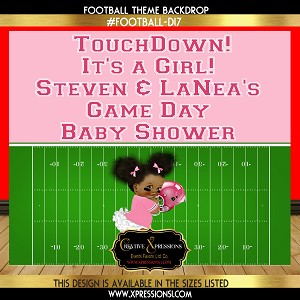 Football Theme Baby Shower Backdrop