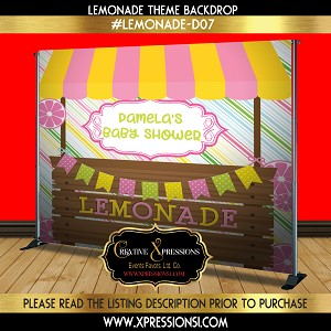 Lemonade Theme Baby Shower Backdrop