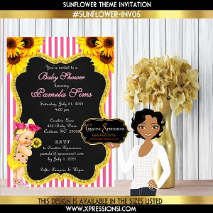 Baby Shower Sunflower Invitation