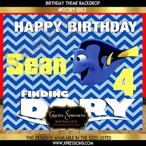 Finding Dory Birthday Backdrop